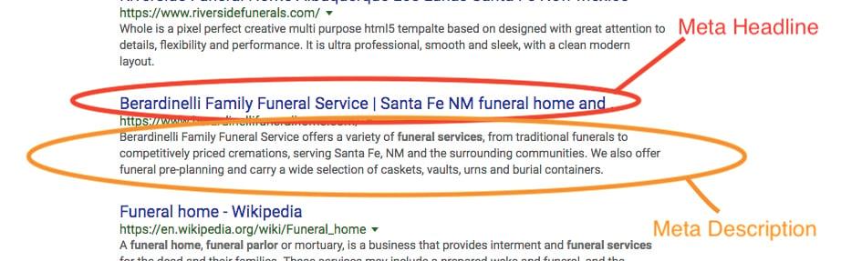 funeral home SEO